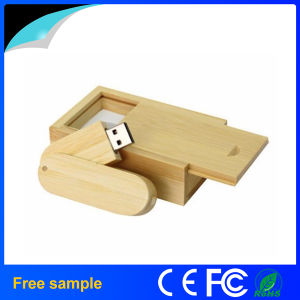 Swivel Bamboo Wooden USB Flash Drive with Package Box pictures & photos