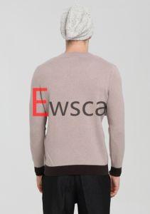 Men′s Intarsia Pure Cashmere Sweater pictures & photos