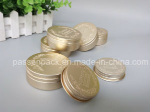 80g Golden Aluminum Cream Jar with Embossed Logo (PPC-ATC-066) pictures & photos