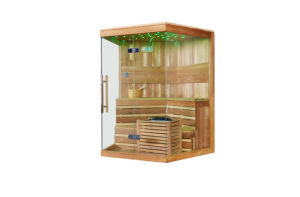 Monalisa CE Approved Wooden Special Design Sauna M-6037 pictures & photos