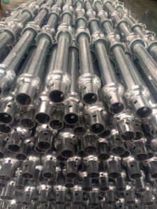 Galvanized Steel Cuplock Scaffolding Standard with Spigot pictures & photos
