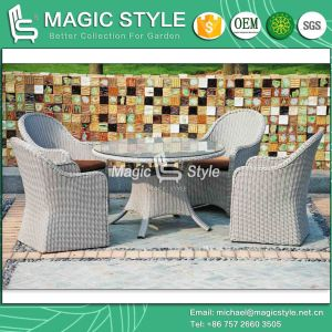 High Quality Dining Chair Synthetic Wicker Dining Set Patio Dining Set (Magic Style) pictures & photos