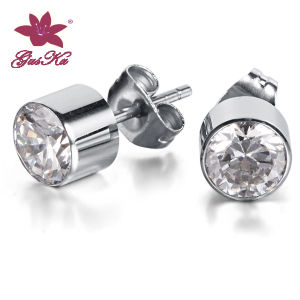 CZ Stones Stainless Steel Earrings