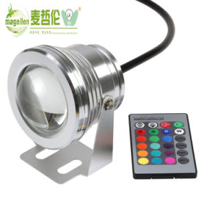 LED Underwater Light RGB 10W 12V IP68 Fountain Pool pictures & photos