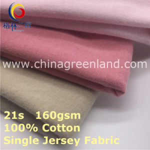 100% Combed Cotton Knitted Jersey Fabric for Garment Textile (GLLML412) pictures & photos