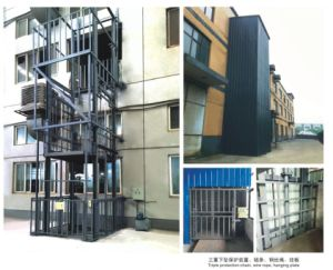 Vertical Guide Rail Elevators Hydraulic Warehouse Cargo Lift (HTF-2) pictures & photos