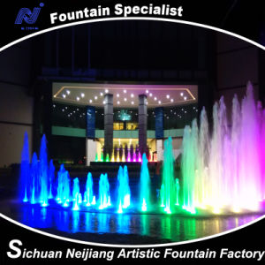 Economic Colorful Music Dancing Fountain Foam Shape
