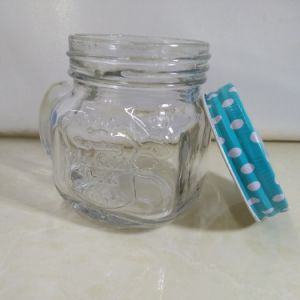 250ml Glass Mason Jar with Handle pictures & photos