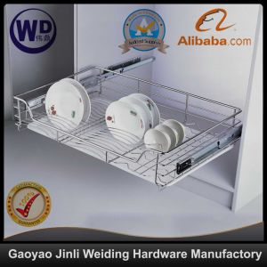 Pull Roll out Wire Larder Drawer Storage Basket Ml008A2 pictures & photos