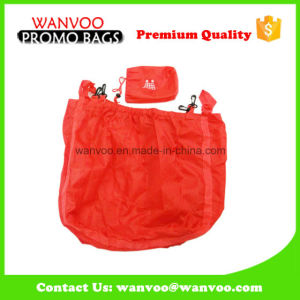 Promotional Polyester Foldable Shopping Bag for Advertising with Haning Hook pictures & photos