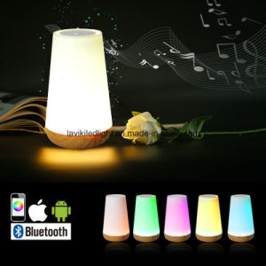 Portable Wireless Bluetooth Speakers LED Table Lamp pictures & photos