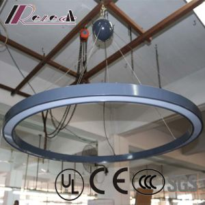 Graphite Gray Lacquered Round Ceiling Light with LED Strip pictures & photos