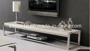 TV Stand / Living Room Furniture / Stainless Steel Table / Home Furniture / Modern Table / Glass Table / Tempered Glass Table Dg011 pictures & photos