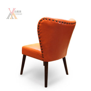 Orange Leather Dining Chair (A20) pictures & photos