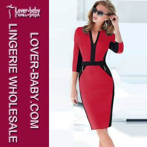 Lady Work Party Bodycon Office Dress (L36017-1) pictures & photos