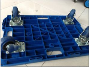 150kgs Blue Plastic Turtle Mosaic Trolley with Blue TPR Caster pictures & photos