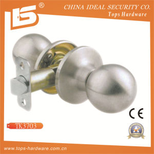 Cylindrical Round Door Knob Lock (607) pictures & photos