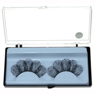 Fashion Makeup Art Black Sequins Sparkle Section False Eyelashes pictures & photos