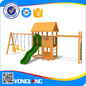 Amusement Park Funny Wooden Toy Playground Equipment with Swing Set Yl55721 pictures & photos