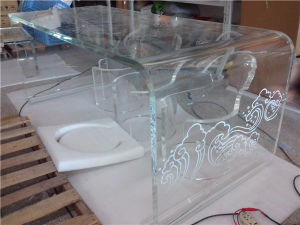 Custom Creative Sitting Room Tea Table, Reception Table, Fashion Leisure Tea Table, Table Acrylic Transparent Crystal Tea Table pictures & photos