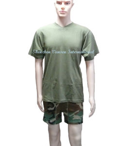 V Neck Men′s Short Jogging Suit (V3008) pictures & photos
