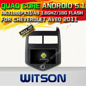 Witson Android 5.1 Car DVD GPS for Cheverolet Aveo 2011 with Chipset 1080P 16g ROM WiFi 3G Internet DVR Support (A5745) pictures & photos