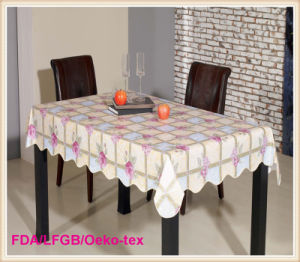 Rectangle Plastic Printed Table Cloth Hot Sale pictures & photos