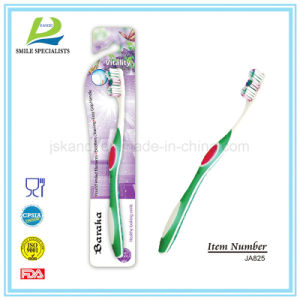 Nice Toothbrush with Three Circle Shaped Rubber Scrapers pictures & photos