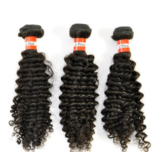 2016 Hot Sales 16inch Peruvian Virgin Hair Extensions Kinky Curly pictures & photos