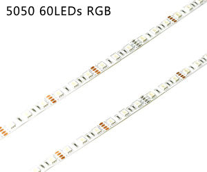 5050 RGB Color 60LED/M LED Strip with UL pictures & photos