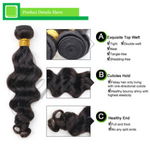 Wholesale Top Grade Natural Virgin Remy Hair Human Hair Weft pictures & photos