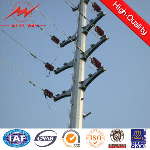 Steel Material Electric Pole Gr65 15m 16m for Transmission pictures & photos