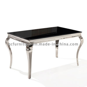 Hot Selling Stainless Steel Marble Dining Table for Living Room Furniture pictures & photos