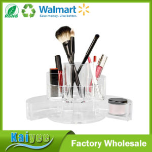 Durable Multiple Compartments Expandable Cylinder Vanity Acrylic Organizer pictures & photos
