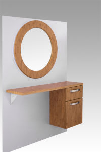 Wall Mounted Salon Hair Station Mirrors with Cabinetmy-B064) pictures & photos