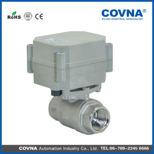 Mini 2-Way Motor Actuated Ball Valves for Automatic Control pictures & photos