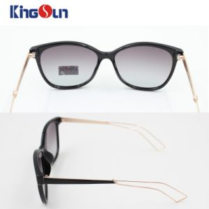 Lady′s Fashion Sunglasses Beach Sunglasses Hollow Metal Temple Ks1156 pictures & photos