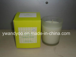 Natural Lemongrass Scented Glass Jar Candle