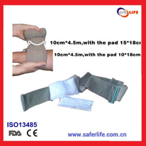 2015 First Aid Soldier Wound Hemostasis Emergency Trauma Military Emergency Dressing Black Military Bandage First Aid Bandage pictures & photos