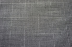 Gry Plaid Wool Fabric for Suit pictures & photos