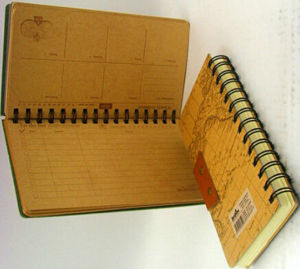 Classical Pattern Design Spiral Diary pictures & photos