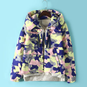 Women Loose Shape Printing Colour Down Jacket pictures & photos