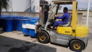 Forklift with Drum Clamps pictures & photos