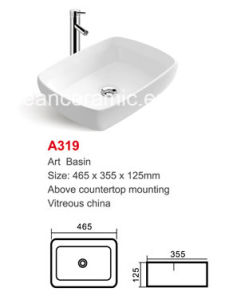 Ceramic Vanity (No. A319) Rectangular Art Basin pictures & photos