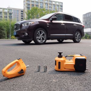 3 Ton 12 Volt Mini Electric Car Hydraulic Jack with Air Compressor pictures & photos