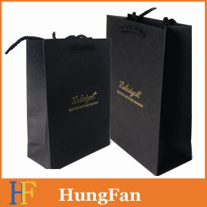 Luxury Black Paper Shopping Bag for Shopping Mall pictures & photos
