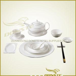 11 PCS Stained Ceramic Tableware Platinum Stone Lines Set
