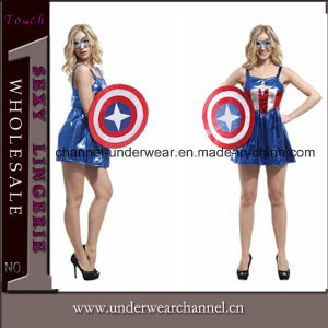 2015 Sexy America Super Hero Cosplay Adult Halloween Costume (TGYW0071) pictures & photos