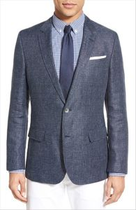 OEM Wholesale Slim Fit Latest Design Men′s Business Suit Blazer pictures & photos