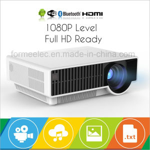 WiFi Android Projector Home Theater LED Projector 2800 Lumens pictures & photos